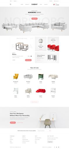 Furniture Shop - Website by Afrian Hanafi | dribbble