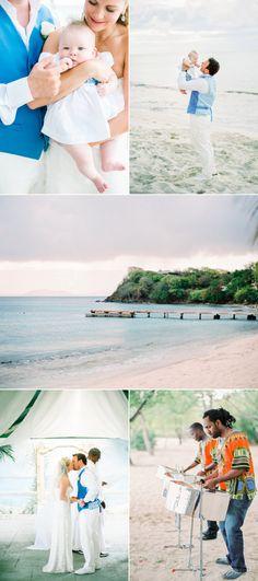 Mustique Island Tropical Destination Wedding
