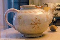 One of the odder exhibits in what is now the Wewelsburg Kreismuseum is Himmler's teapot, complete with runic symbols. Image: Jonathan Turner
