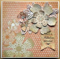 Using craftwork cards papers and flowers and Candi