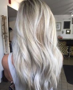 Trendy Haircut, Silver Blonde Hair, White Blonde, Fall Blonde, Silver Ombre, Icy Blonde, Bright Blonde, Grey Platinum Hair, Blonde Shades