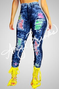 Colorful Jeans | Shop Boutique on Angel Brinks