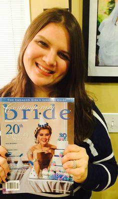 Real bride, Danielle loves Contemporary Bride Magazine!