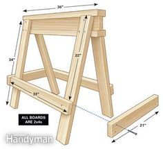 Mark's sawhorse plan - G-Sale Signs