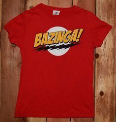 "Big Bang Theory ""Bazinga"" Graphic Tee Shirt Woman's Size Extra Large (XL) Womens Vintage Tees, Graphic Tee Shirts, Big Bang Theory, Bigbang, Polo Ralph Lauren, Mens Tops, Fashion, Moda, La Mode"