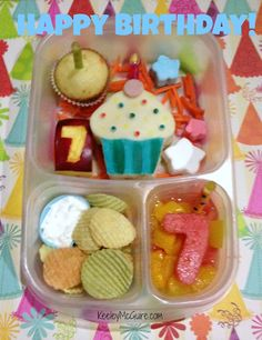 Lunch Made Easy: Happy Birthday Bento Lunchbox for School @EasyLunchboxes