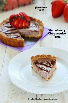 Strawberry Cheesecake Tarts for 2. Glutenfree Vegan Recipe   Vegan Richa