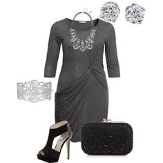 """""""Winter 7- plus size outfit - NYE"""" by smileyjane on Polyvore"""