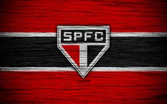Download wallpapers Sao Paulo, 4k, Brazilian Seria A, logo, Brazil, soccer, Sao Paulo FC, football club, wooden texture, FC Sao Paulo