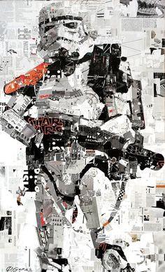 Empire State of Mind - Collage Artwork: Collage Art by Derek Gores
