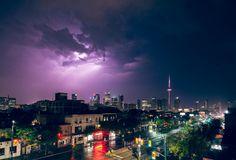 Lightning over Toronto, image by Paul Hillier