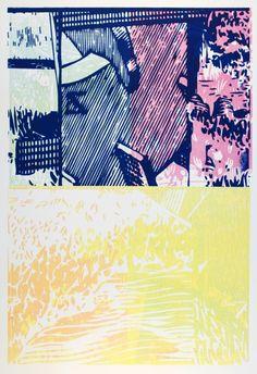 Rob Swainston Working Proof 20 woodblock on paper Printmaking, Paper, Artist, Prints, Artists, Printing