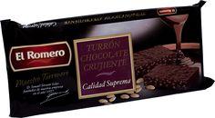 Turron de Chocolate Crujiente EL ROMERO Calidad Suprema 200 g x 24 unidades