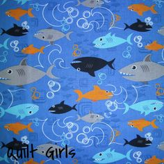 Shark Attack Fabric to sew
