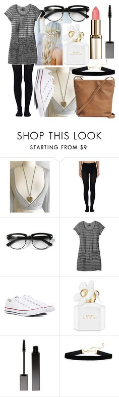 """""""Random Outfit"""" by glimmergirlgamer on Polyvore featuring Wolford, Converse, Marc Jacobs, Serge Lutens and BAGGU"""