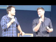 [VIDEO] Jensen and Misha convention panel at JIB2013.  Jensen videotaping the audience for Jared.