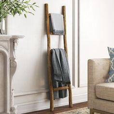August Grove® 4 ft Blanket Ladder | Wayfair Rustic Blanket Ladder, Rustic Blankets, Quilt Ladder, Rustic Ladder, Wood Ladder, Cozy Blankets, Ladder Decor, Diy Ladder, Blanket Rack