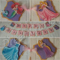 Customizable princess banners only at DreemCrafts! Check out my etsy shop!