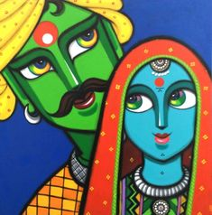 Turn your home into a gallery with exquisite art by Gouri Shirish Velhal. Buy curated original paintings, sculptures and gallery quality prints by world's artists. Madhubani Art, Madhubani Painting, Kalamkari Painting, Mural Painting, Fabric Painting, Diy Painting, Poster Color Painting, Painting Abstract, Fabric Art
