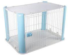 Portable Dog Cage Pet Kennel Blue Cat Playpen Indoor Kitten Puppy Travel Tray  #IRISUSAInc