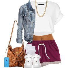 I WANT those shorts. !! by je-mimi on Polyvore featuring Topshop, H&M, John Lewis, Forever 21 and NIKE