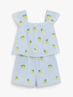 Buy John Lewis & Partners Girls' Lemon Print Playsuit, Multi from our Girls' Dresses range at John Lewis & Partners. Girls Playsuit, Lemon Print, Our Girl, Playsuits, John Lewis, Dress Collection, Girls Dresses, Rompers, Pretty