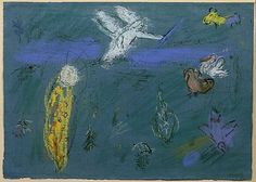 Adam and Eve expelled from Paradise by @artistchagall