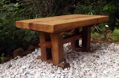 Outdoor Meditation Bench from Reclaimed Barn Wood