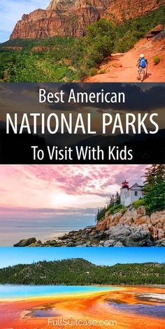 Selection of 16 most popular and best American national parks for a family vacation nationalpark familytravel travelwithkids 633811347533264650 New Orleans, New York, American National Parks, National Parks Usa, Family Vacation Destinations, Travel Destinations, Vacation Ideas, Vacation Trips, Us Family Vacations