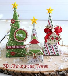 3D Christmas Tree another great way to use the Petal Cone Die!