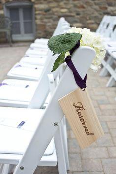Individual Sign - Handmade Woodburned  Wood Reserved Wedding Sign