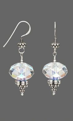 Jewelry Design - Earrings with Swarovski Crystal Beads and Sterling Silver Beads - Fire Mountain Gems and Beads