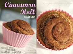 Cinnamon Roll Muffins using Unsweetened Almond Breeze almond milk - gluten free and vegan! #recipe #baking #almondmilk #almondbreeze