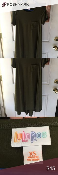 Xs Carly Worn for an hour only. I have broad shoulders and this doesn't work for me. Perfect condition!! LuLaRoe Dresses High Low