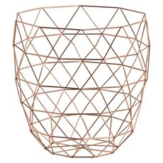 Go storage crazy with a geometric inspired wire basket - keep your towels rolled in it, or use it for waste paper. You could probably turn it upside down, pop o Copper Wire Basket, Wire Baskets, Storage Baskets, Solar Panel Battery, Solar Panel Kits, Solar Panels, Outlet Wiring, Landscape Arquitecture, Marble Tray