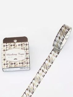 Houndstooth Masking Tape Masking Tape, Houndstooth, Romwe, Floral Tie, Accessories, Duct Tape, Jewelry Accessories