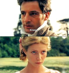 George Knightley & Gwyneth Paltrow (Emma Woodhouse) - Emma directed by Douglas McGrath In this version, Emma is played by the same actress who plays Ms. Period Movies, Period Dramas, Winchester, Emma 1996, Jeremy Northam, Emma Woodhouse, Jane Austen Movies, Elizabeth Gaskell, Becoming Jane