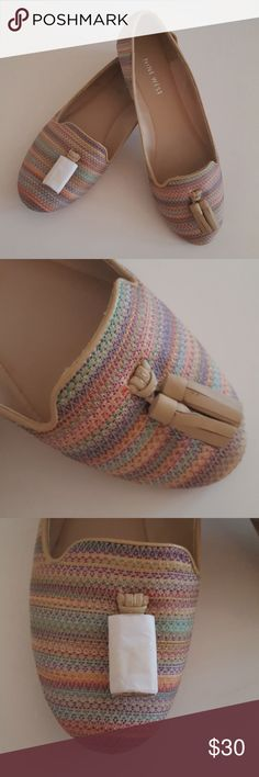 NWOB Nine West Multicolored Loafers New without box hard to find and adorable multicolored striped Nine West smoking slippers. Little tassels on the front (one tassel is still in the packaging). Nine West Shoes Flats & Loafers