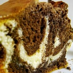 Marble Swirl Pound Cake - A tube cake with vanilla and chocolate layers swirled together to achieve a marbled effect. Marble Pound Cakes, Marble Cake Recipes, Pound Cake Recipes, Marble Cake Recipe Moist, Marbel Cake, Rocket Ship Cakes, Swirl Cake, Cake Recipes From Scratch, Marble Cupcake Recipe From Scratch