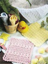 Baby Bath Cloths  www.free-crochet.com