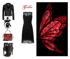 """""""Gothic"""" by lulochka ❤ liked on Polyvore featuring IRO, Dolce&Gabbana, Alexander McQueen and Dsquared2"""