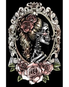 Too Fast Skull Cameo Poster Victorian Skeleton Roses Punk Goth Tattoo in Art, Art from Dealers & Resellers, Posters | eBay