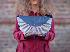 Ninù - Backpack vegan. Matilde bag in variegated and black.