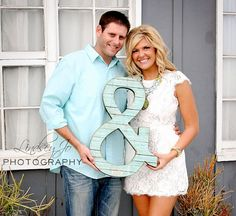 Ampersand, Photo Prop, Wedding, Engagement Photoshoot prop, Reclaimed wood - Faux, Extra Large