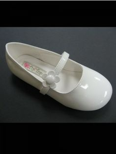 White Daisy Accented Strap Girls Shoes Sizes 1- Youth 4 - Girls Shoes - SHOES