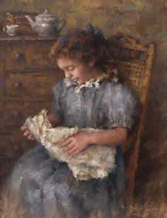 With a doll.Wet Paint ‹ Todd Williams Fine Art
