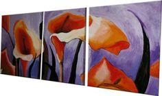 Calle in mezzo al viola! #callas #artaminix #handmade #art #paint #flowers #nature #cute #orange