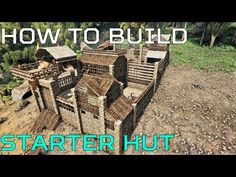 This hut is a relatively small build and is probably best suitable for a solo player. I wanted to give it a patched up feel but you can always choose your ow. Ark Survival Evolved Tips, Survival Videos, Survival Skills, Ark Craft, Birthday Survival Kit, Building Concept, 7 Days To Die, Conan Exiles, Pet Rabbit