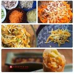 Křupavé jarní závitky #vegetarian #asiechutna #recept na http://krevetka.eu/?p=499