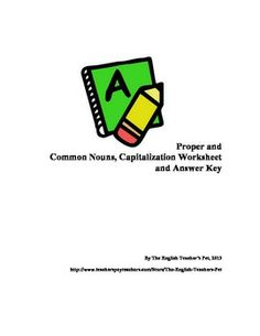 Proper and Common Nouns worksheets and Answer Key: This 2 page document is a practice for finding proper and common nouns of sentences, with an answer key for your reference. Great for reviewing, ready to print and pass out.  Need a PowerPoint lesson for teaching these skills? Check out my store for several grammar mini lessons and activities! Grades 6-12. $